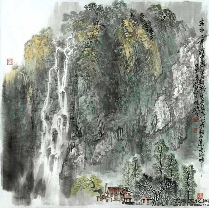 《春水》 68X68cm 2020年_看图王