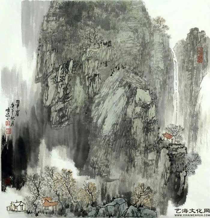 《翠崖》 68X68cm 2020年_看图王