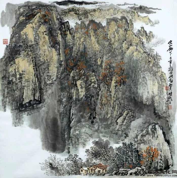 《大山脚下》 68X68cm 2020年_看图王