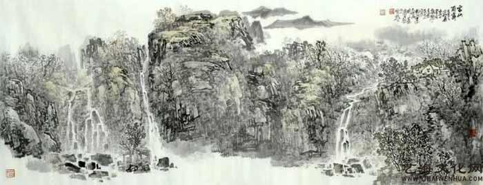 《家山雨霁》 68X180cm 2020年_看图王