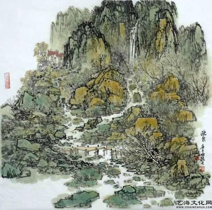 《流泉》 68X68cm 2020年_看图王